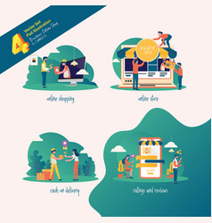 online shop collection vector image