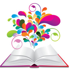 Opened book vector