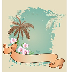 palms and orchids vector image