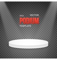 Photorealistic Winner Podium Stage vector