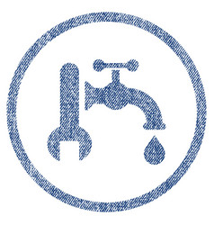 Plumbing fabric textured icon vector