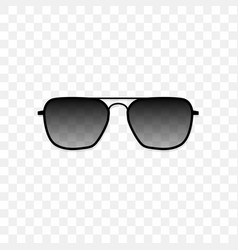 Realistic sunglasses with a translucent black vector