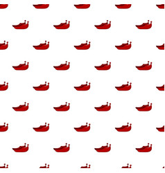 Red turkish shoes pattern vector