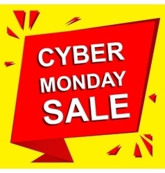 Sale poster with CYBER MONDAY SALE text vector