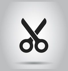 Scissors flat icon scissor vector