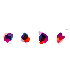 set of abstract modern graphic elements vector image
