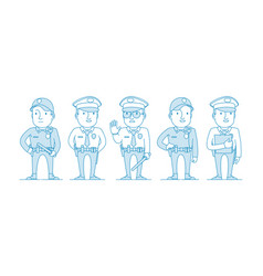 set police characters vector image