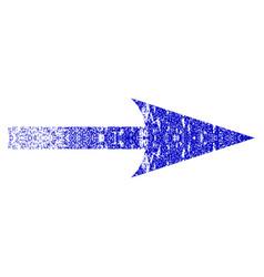Sharp arrow right grunge textured icon vector