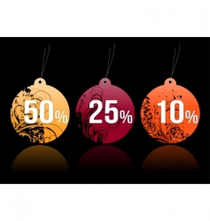 shopping tags for any seasons vector image