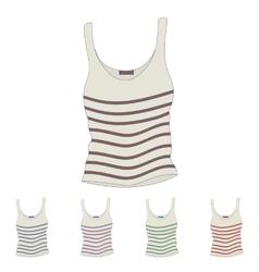 Singlet Female singlet Sleeveless shirts vector