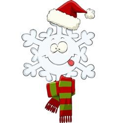 snowflake hat vector image