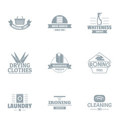 Special tool logo set simple style vector