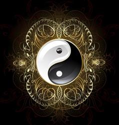 Symbol yin yang vector