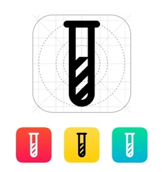 Test tube with substance icon vector