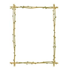 twig sprig frame pattern background vector image