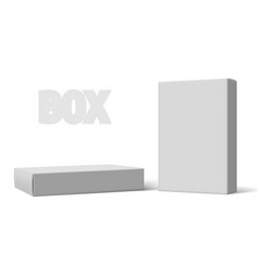 various angle 3d blank package box set vector image