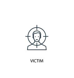 victim concept line icon simple element vector image