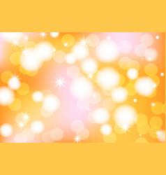 Vivid bokeh in golden color background vector