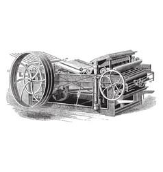 Adams platen printing press vintage vector