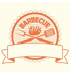 barbecue label stamp design element vector image vector image
