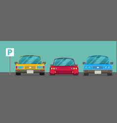 parking zone element of graphical design flat vector image vector image