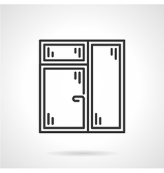 Window with window leaf line icon vector image