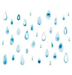 Hand draw aquarelle art paint blue watercolor rain vector image vector image