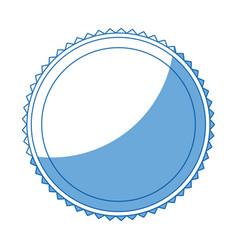 label badge decoration blank emblem stamp vector image