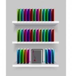 modern bookshelf vector image