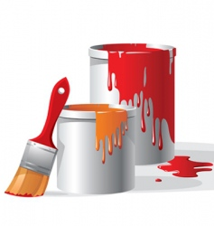 paint buckets vector image vector image