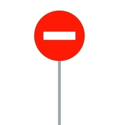 Road signs It is prohibited to enter vehicles vector image
