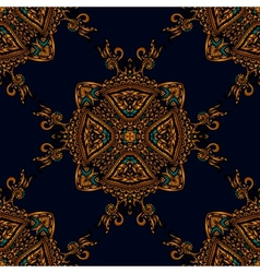 Seamless pattern luxury fabric vector image vector image