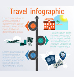 travel infographic template 3 positions vector image