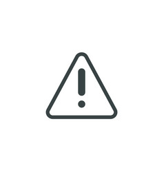 warning icon simple vector image