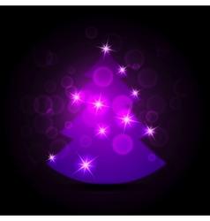 Abstract purple christmas tree vector image