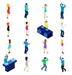 Dancing People Isometric vector image vector image
