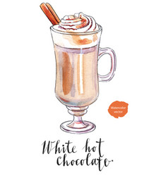 white hot chocolate vector image