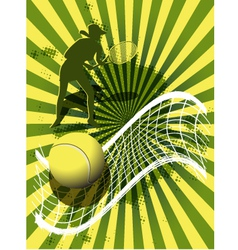 sports background tennis vector image