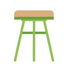Stool Wooden vector image vector image