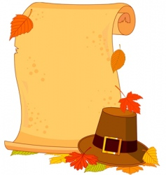 thanksgiving scroll vector image vector image