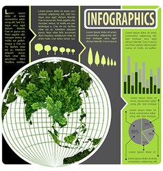 An infographics of the world vector image