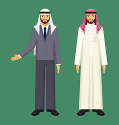 Arabic businessman in casual ethnic clothing vector