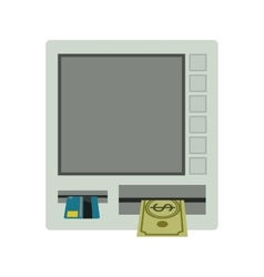 ATM terminal with redit card and cash vector image