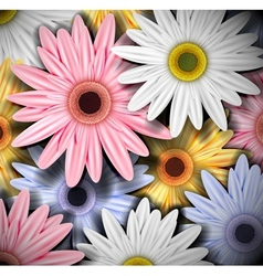Background with colorful gerberas vector image