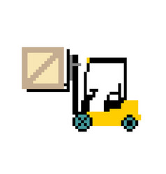 badge forklift warehouse forklift with box fork vector image