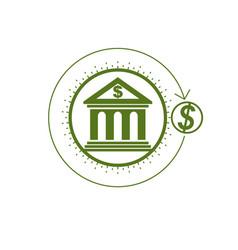 Banking conceptual logo unique symbol banking vector