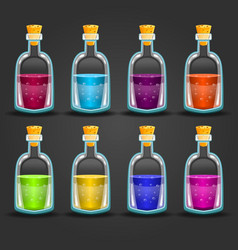 Big set of flasks with different poisons vector