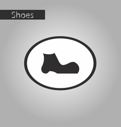 Black and white style icon shoe vector