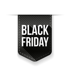 Black Friday ribbon tag vector image