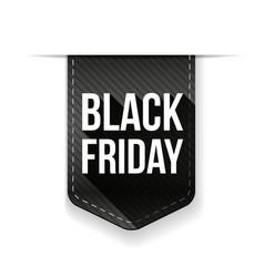 Black Friday ribbon tag vector